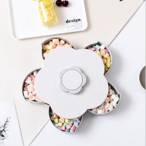 Khay mứt xoay-Khay đựng bánh kẹo-Khay hình hoa