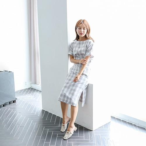 Đầm Đắp Chéo Cột Nơ Eo Namu