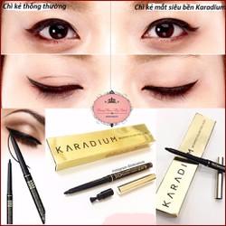 [Miễn phí vận chuyển 10k]Chì Kẻ Mắt Chống Thấm Karadium Waterproof Eyeliner Pencil Black