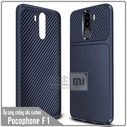 Ốp lưng Xiaomi Pocophone F1 chống sốc Carbon - Nhựa TPU dẻo - xanh đen - 6668436 , 13345008 , 15_13345008 , 70000 , Op-lung-Xiaomi-Pocophone-F1-chong-soc-Carbon-Nhua-TPU-deo-xanh-den-15_13345008 , sendo.vn , Ốp lưng Xiaomi Pocophone F1 chống sốc Carbon - Nhựa TPU dẻo - xanh đen