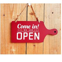 Bảng Treo Open, Close Phong Cách Mới - BẢNG ĐỎ