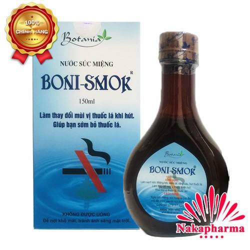 ✅ Nước súc miệng Boni Smok 150ml – Giúp bạn cai thuốc dễ dàng BoniSmok - 6668798 , 13345317 , 15_13345317 , 140000 , -Nuoc-suc-mieng-Boni-Smok-150ml-Giup-ban-cai-thuoc-de-dang-BoniSmok-15_13345317 , sendo.vn , ✅ Nước súc miệng Boni Smok 150ml – Giúp bạn cai thuốc dễ dàng BoniSmok