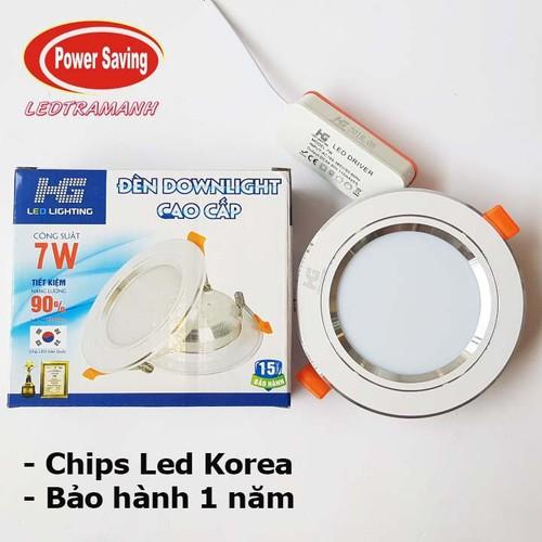 Đèn Led âm trần HG 7w 1 màu viền bạc