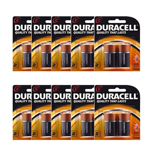 combo 10 vỉ pin trung C duracell.