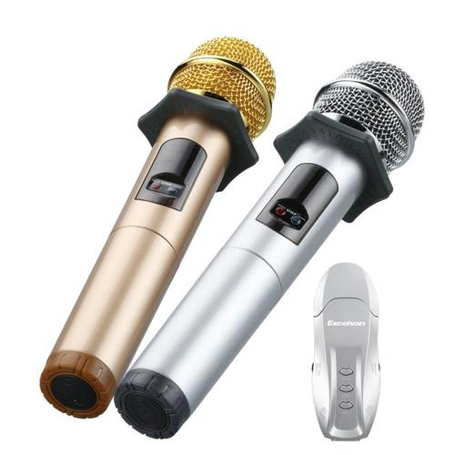 Bộ 2 Mic Karaoke Không Dây Excelvan K18U