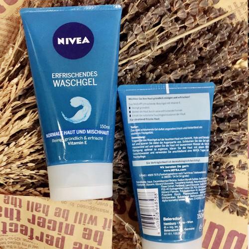 Sữa rửa mặt NIVEA tẩy da chết dành cho mọi loại da 150ml , Đức