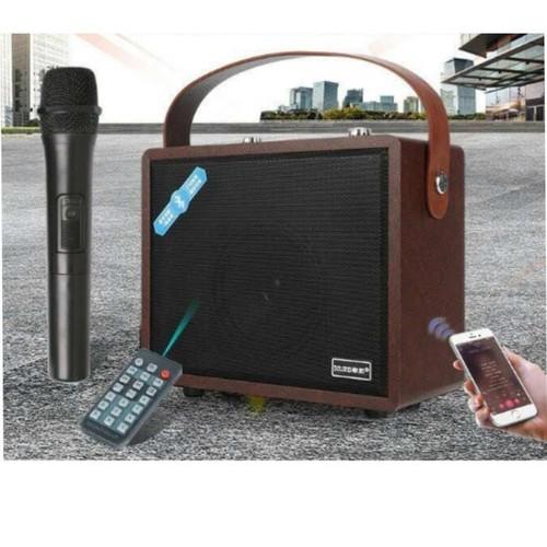 Loa Blutooth GL-88 công suất 400W âm thanh Hi-Fi - Nâu