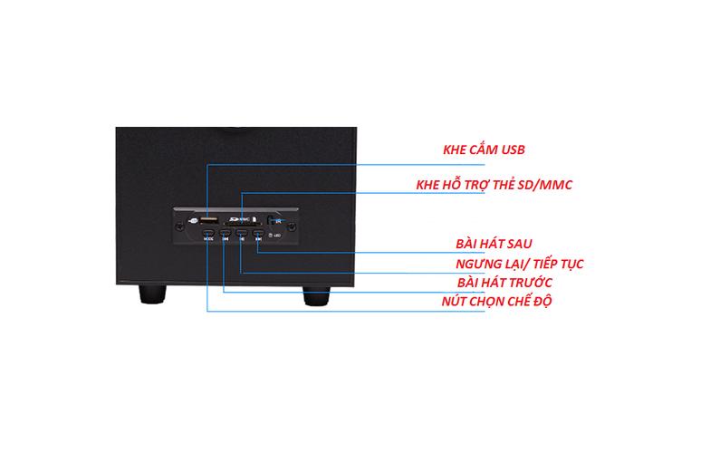 Loa Bluetooth vi tính điện thoại tivi máy tính laptop PKCB A900 3 trong 1 11