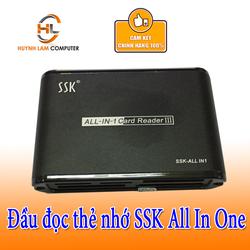 Đầu Đọc Thẻ Nhớ Đa Năng SSK All In 1 Card Reader III Đen 025