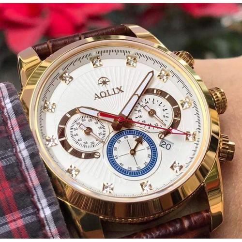 Đồng hồ nam chính hãng Aolix al 7049g dây da trẻ trung - 6673438 , 13351524 , 15_13351524 , 1750000 , Dong-ho-nam-chinh-hang-Aolix-al-7049g-day-da-tre-trung-15_13351524 , sendo.vn , Đồng hồ nam chính hãng Aolix al 7049g dây da trẻ trung