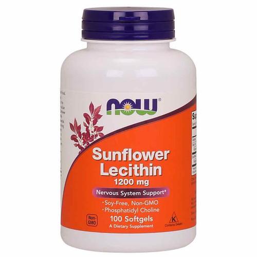 Viên uống chống tắc tia sữa Sunflower Lecithin 1200mg - Hộp 100 viên - Đủ bill
