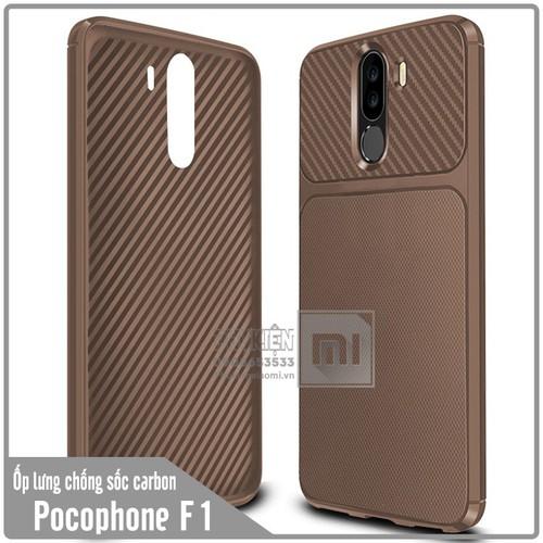 Ốp lưng Xiaomi Pocophone F1 chống sốc Carbon - Nhựa TPU dẻo - nâu - 6666838 , 13342859 , 15_13342859 , 70000 , Op-lung-Xiaomi-Pocophone-F1-chong-soc-Carbon-Nhua-TPU-deo-nau-15_13342859 , sendo.vn , Ốp lưng Xiaomi Pocophone F1 chống sốc Carbon - Nhựa TPU dẻo - nâu