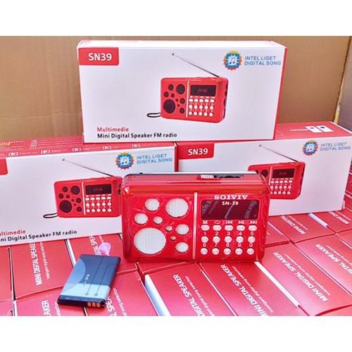 Loa Nghe Pháp USB, Thẻ Nhớ, FM, SOIVIV SN39 - Đỏ