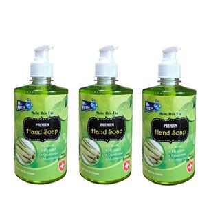 Bộ 3 bình nước rửa tay tiệt trùng Mr Fresh Korea 500ml Hương Xả Chanh - BH457 thumbnail