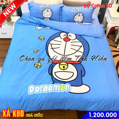 Bộ chăn ga gối cotton 3D cho bé hình Đôrêmon mẫu 6 - 6683143 , 13362580 , 15_13362580 , 1200000 , Bo-chan-ga-goi-cotton-3D-cho-be-hinh-Doremon-mau-6-15_13362580 , sendo.vn , Bộ chăn ga gối cotton 3D cho bé hình Đôrêmon mẫu 6