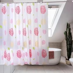 Rèm phòng tắm hoặc cửa sổ họa tiết Hoa Cúc Đỏ 180x180cm Loại 1