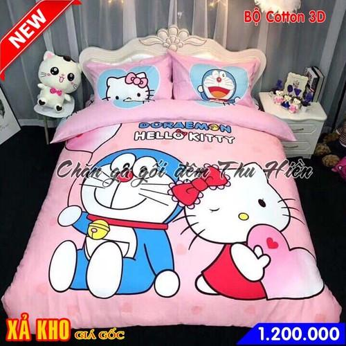 Bộ chăn ga gối cotton 3D cho bé hình Đôrêmon và mèo Kitty - 6684314 , 13364137 , 15_13364137 , 1200000 , Bo-chan-ga-goi-cotton-3D-cho-be-hinh-Doremon-va-meo-Kitty-15_13364137 , sendo.vn , Bộ chăn ga gối cotton 3D cho bé hình Đôrêmon và mèo Kitty