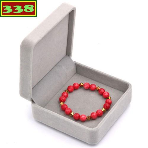 Vòng chuỗi đeo tay đá ngọc tủy đỏ 8 ly FTTOV20 kèm hộp nhung