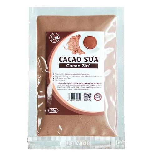 Cacao sữa 3in1 thơm ngon - Gói 50g