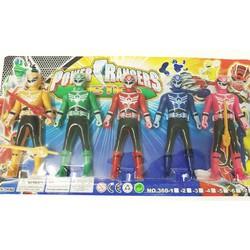 vỉ đồ chơi 5 anh em siêu nhân