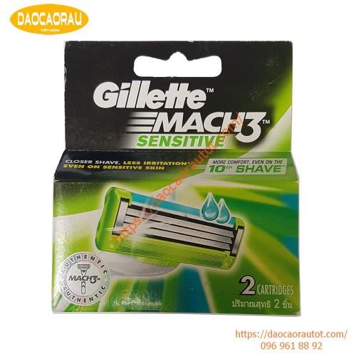 Hộp 2 lưỡi dao cạo râu Gillette Mach 3 sensitive