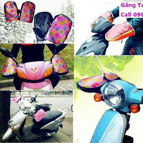 Găng tay xe máy lót lông