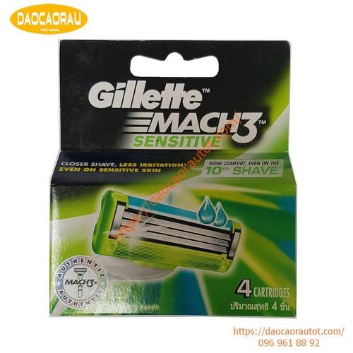 Hộp 4 lưỡi dao cạo râu Gillette Mach 3 sensitive - 6684236 , 13363981 , 15_13363981 , 314000 , Hop-4-luoi-dao-cao-rau-Gillette-Mach-3-sensitive-15_13363981 , sendo.vn , Hộp 4 lưỡi dao cạo râu Gillette Mach 3 sensitive