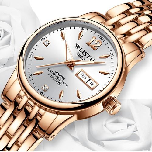 Đồng hồ nữ WLISTH 508 mặt tròn size 25mm dây thép sang trọng AZ-W508
