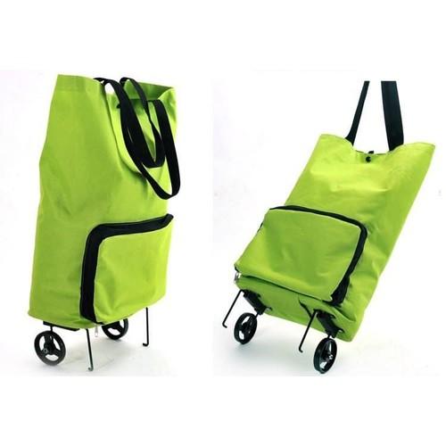 Túi đi chợ, đi siêu thị kiêm xe kéo có bánh xe chở đồ nặng