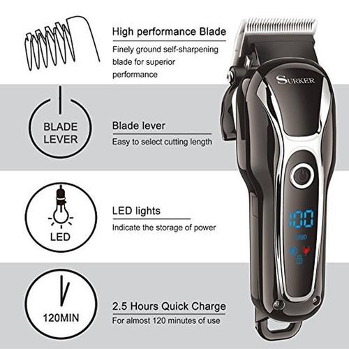 Tông Đơ Cắt Tóc Chuyên Nghiệp Surker SK-805, tông đơ cắt tóc, tông đơ sạc điện