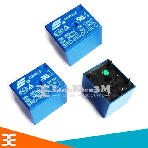 Bộ 3 Chiếc Relay Songle SRD 5P 10A - 5VDC     Đánh giá sản phẩm