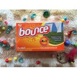 Giấy thơm quần áo Bounce 160 tờ Mùi Việt kiều mỹ xách tay