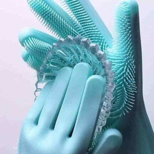 Găng tay silicon kiêm miếng rửa bát cao cấp