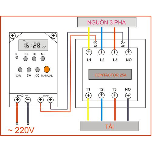 Combo Công tắc hẹn giờ tự động  bật tắt thiết bị và Khởi động từ 25A - 7140944 , 13861034 , 15_13861034 , 265000 , Combo-Cong-tac-hen-gio-tu-dong-bat-tat-thiet-bi-va-Khoi-dong-tu-25A-15_13861034 , sendo.vn , Combo Công tắc hẹn giờ tự động  bật tắt thiết bị và Khởi động từ 25A