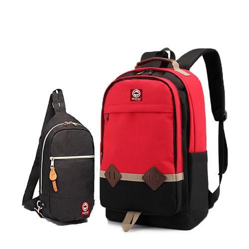 Combo balo thời trang HARAS HR233 Và túi đeo chéo cá tính HARAS HR203 2