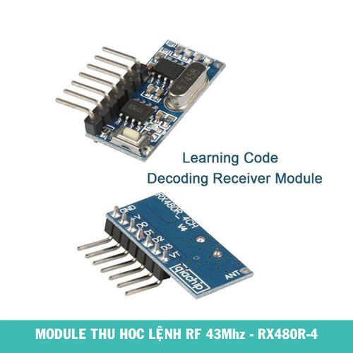 Module Thu Học Lệnh RF 433Mhz RX480R-4CH