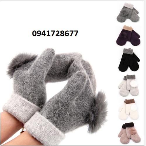 Bao tay nữ găng tay nữ len  không ngón