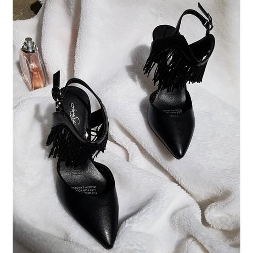 Giày cao gót tua rua cá tính - Hàng Nhập cao cấp