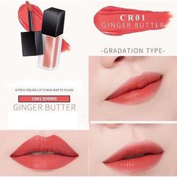 Son Kem Lì APieu Color Lip Stain màu Cr01 cam đất pha cam đào