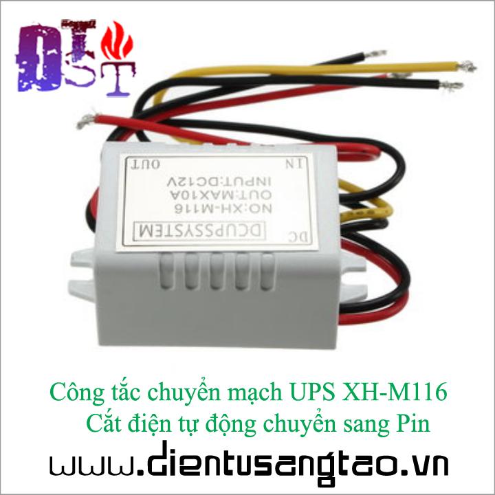 Công tắc chuyển mạch UPS XH-M116   Cắt điện tự động chuyển sang Pin 3