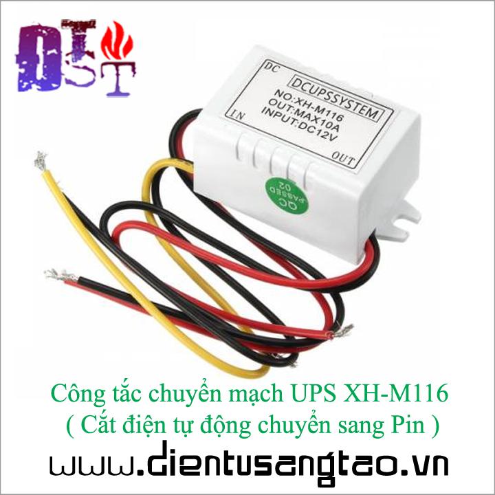 Công tắc chuyển mạch UPS XH-M116   Cắt điện tự động chuyển sang Pin 1