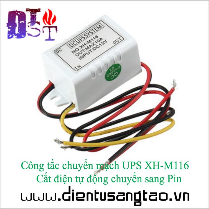 Công tắc chuyển mạch UPS XH-M116   Cắt điện tự động chuyển sang Pin 2