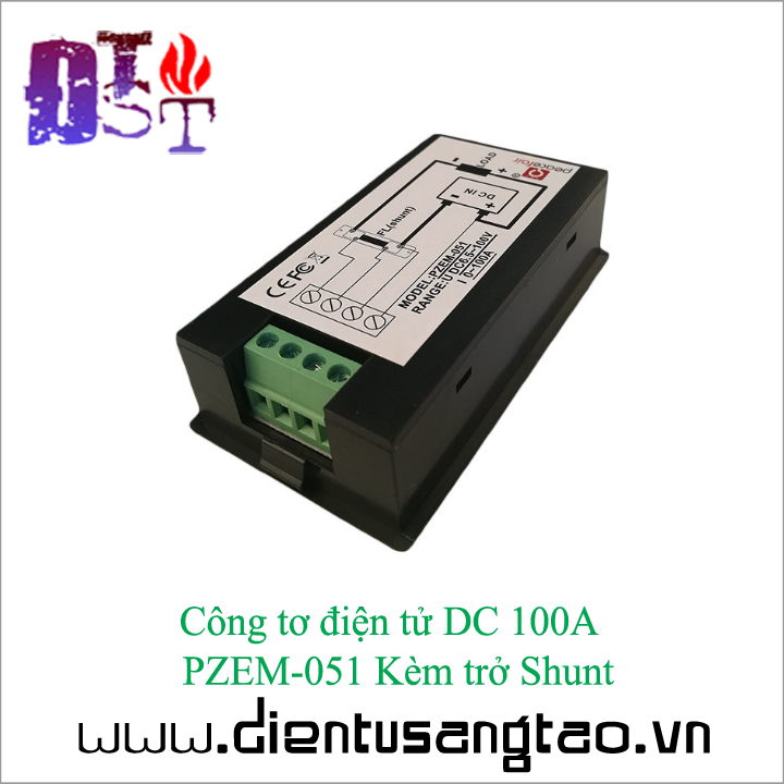 Công tơ điện tử DC 100A  PZEM-051 Kèm trở Shunt 2