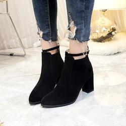 Giày boot nữ cổ ngắn trẻ trung sành điệu GBN18001