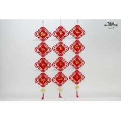 Dây nhung đỏ họa tiết Chúc Mừng Năm Mới số 33 120cm