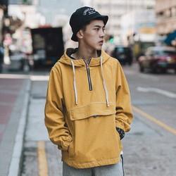 Áo hoodie kaki zip