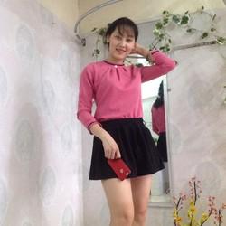 Set áo liền chân váy màu hồng hình thật