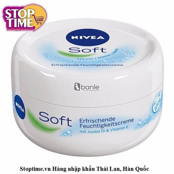 Kem dưỡng ẩm cho mặt và toàn thân Nivea Soft 200ml 1