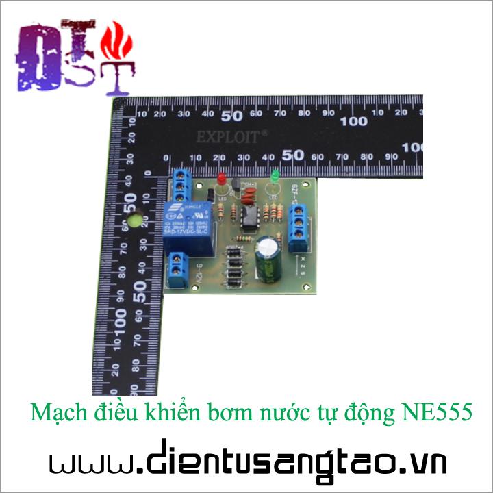 Mạch điều khiển bơm nước tự động NE555 7