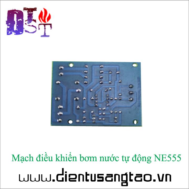 Mạch điều khiển bơm nước tự động NE555 5